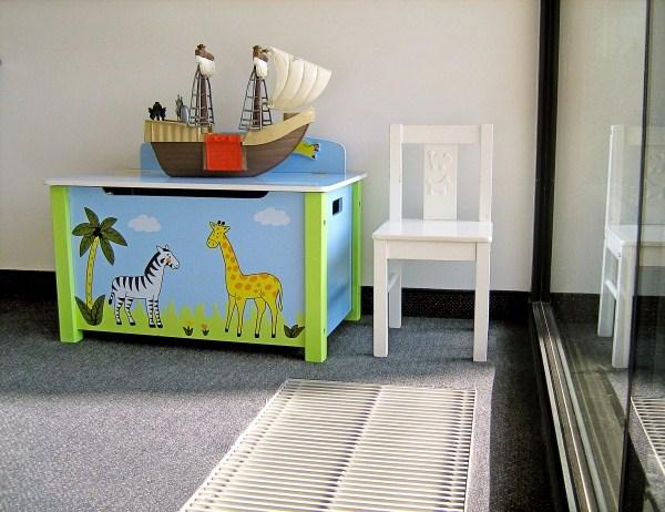 Podłogowe ogrzewanie kanałowe w pokoju dla dzieci