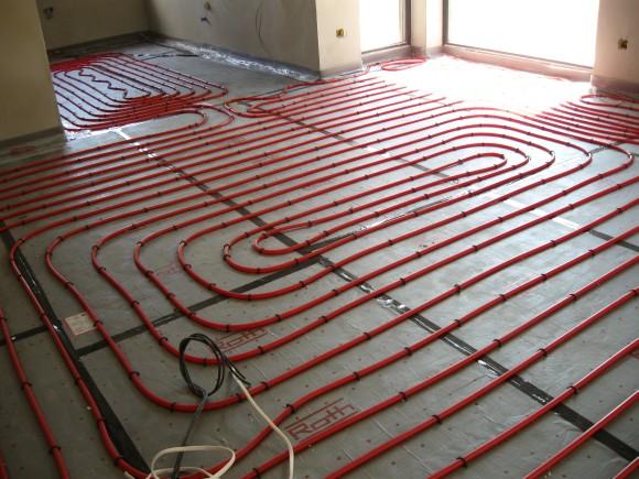 Montaż systemu ogrzewania podłogowego - zdjęcie z budowy -1