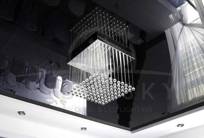 Oświetlenie dekoracyjne - żyrandol światłowodowy